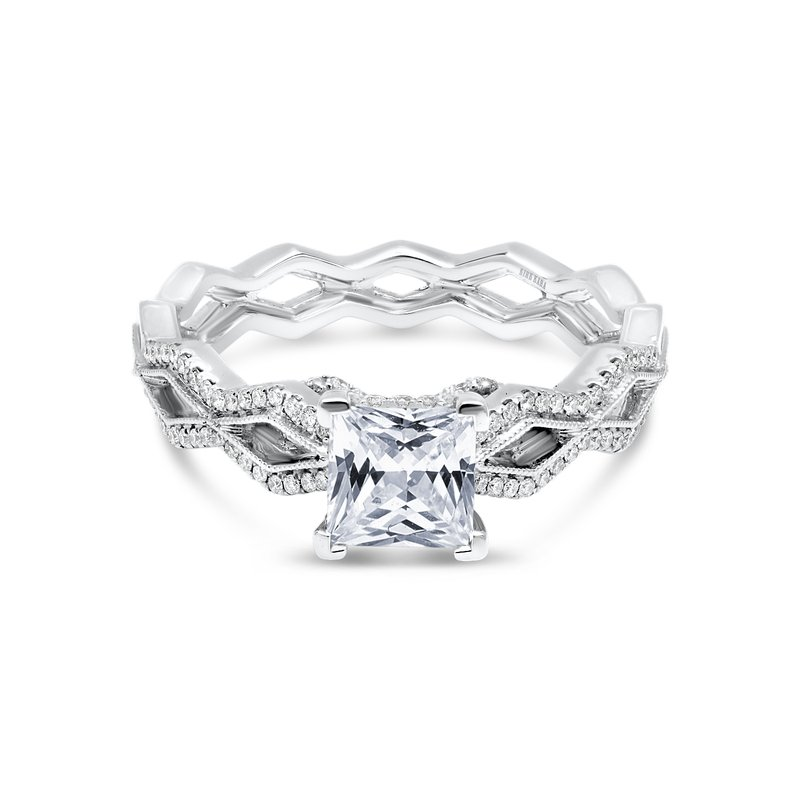 Kirk Kara Geometric Diamond Engagement Ring