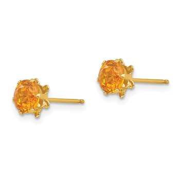 14k Madi K 5mm Synthetic (Nov) Earrings