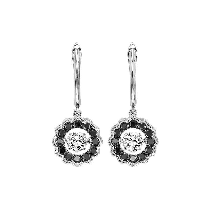 Rhythm of Love 14K Black & White Diamond Rhythm Of Love Earrings 1/2 ctw