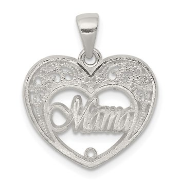 Sterling Silver Mama Heart Charm