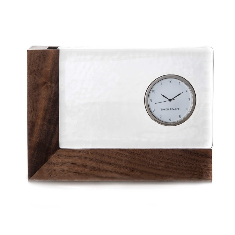 Simon Pearce Ludlow Clock with Wood Base
