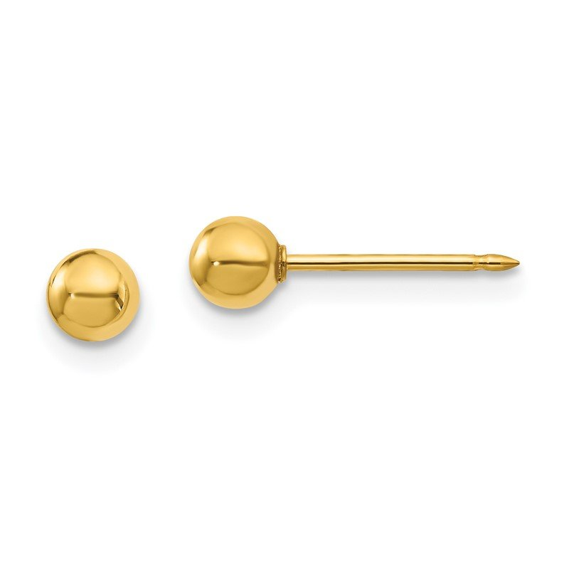 Quality Gold Inverness 18k 4mm Ball Post Earrings