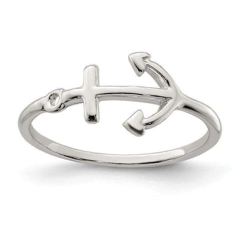 Quality Gold Sterling Silver Polished Anchor Ring