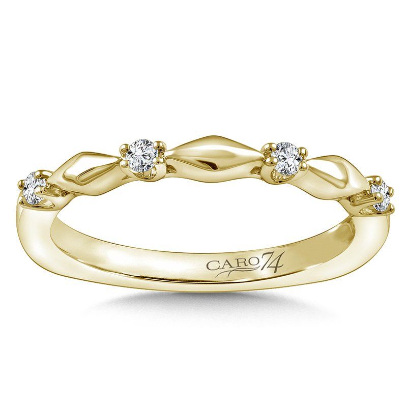 Caro74 Stackable Wedding Band in 14K Yellow (.10 ct. tw.)