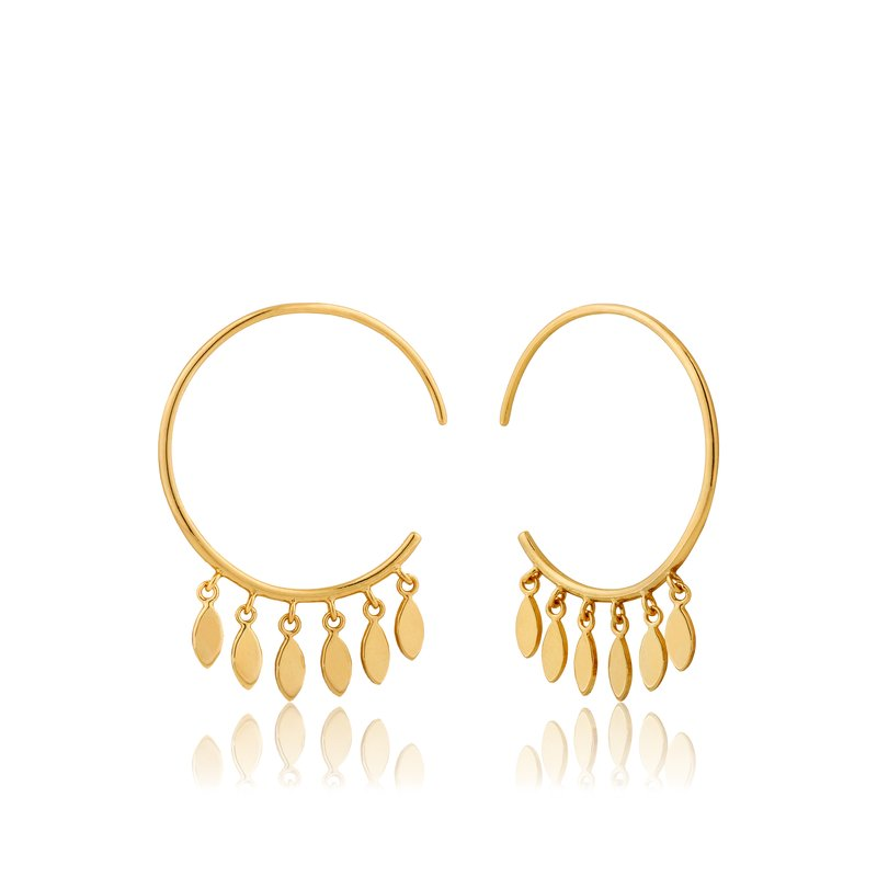 Ania Haie Multi-Drop Hoop Earrings