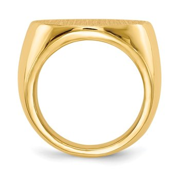 14k 21.0x21.5mm Closed Back Mens Signet Ring