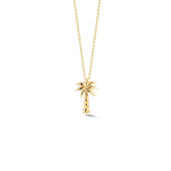 18Kt Gold Palm Tree Pendant