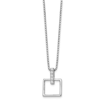 SS White Ice .05ct. Diamond Necklace