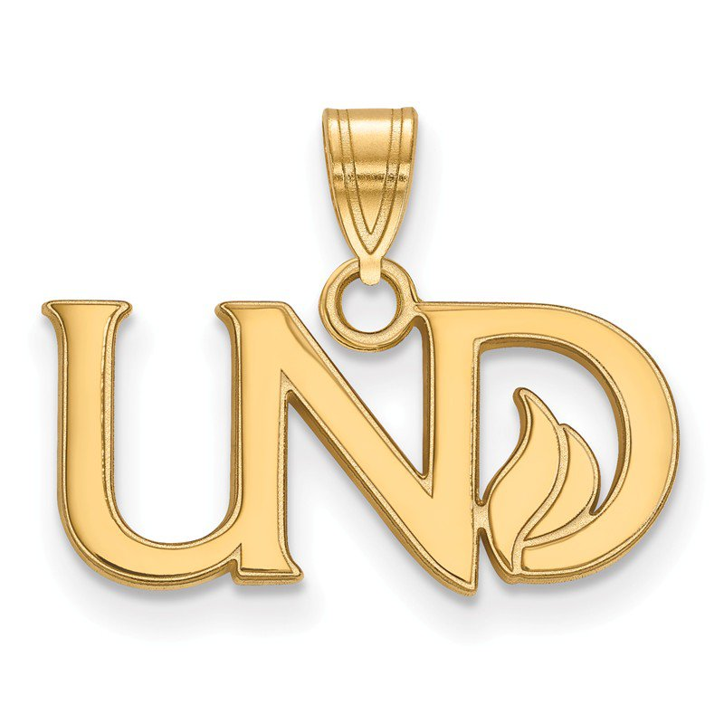 NCAA Gold University of North Dakota NCAA Pendant