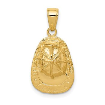 14k 3-D Firefighter Hat Pendant