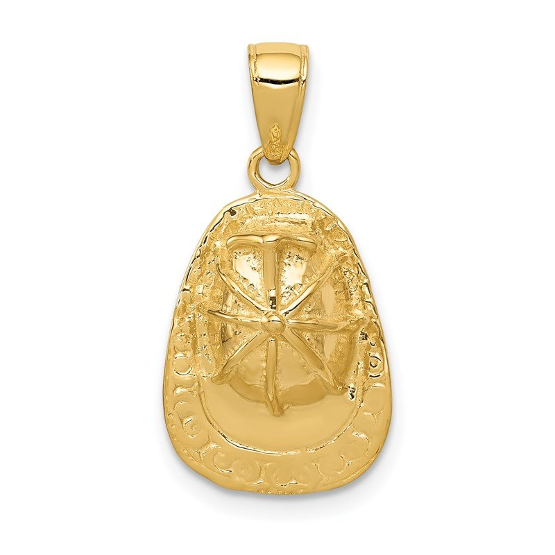 Quality Gold 14k 3-D Firefighter Hat Pendant