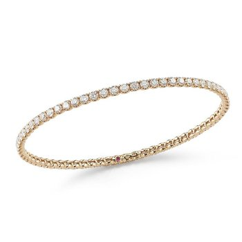 Bangle With Diamonds &Ndash; 18K Rose Gold, M