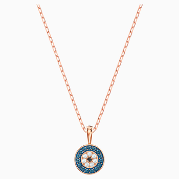 Luckily Pendant, Multi-colored, Rose-gold tone plated