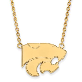 Gold-Plated Sterling Silver Kansas State University NCAA Necklace