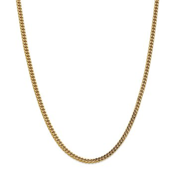 14k 3.7mm Semi-Solid Franco Chain