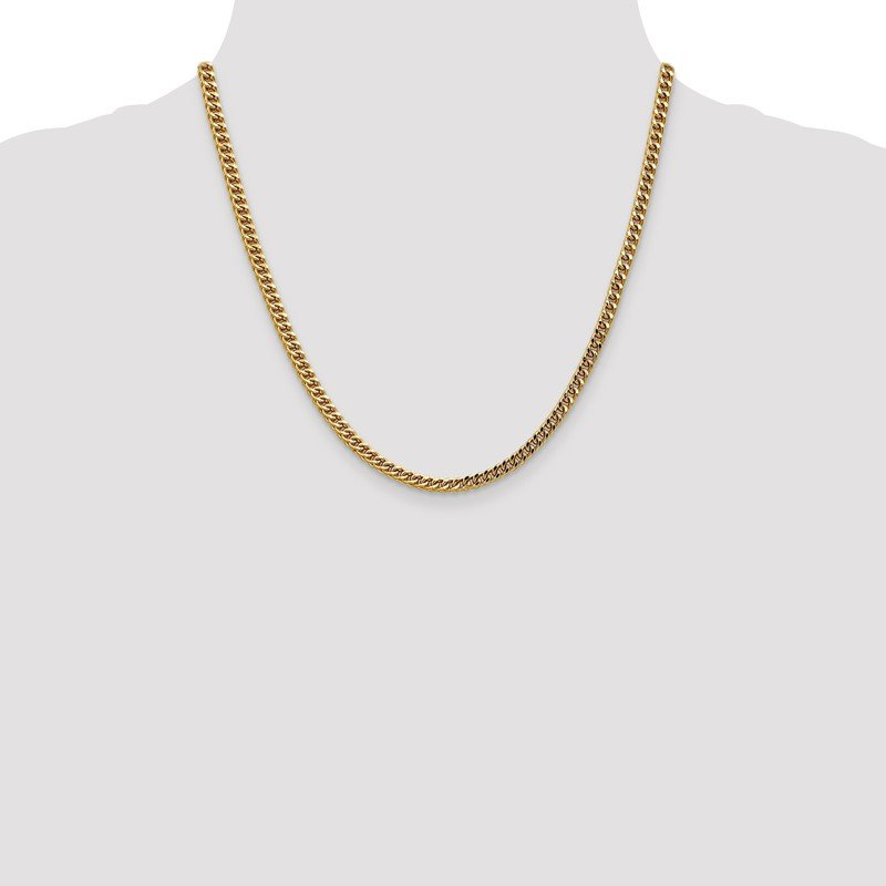 Quality Gold 14k 3.7mm Semi-Solid Franco Chain