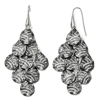 Leslie's Sterling Silver and Ruthenium-plated Shepherd Hook Earrings