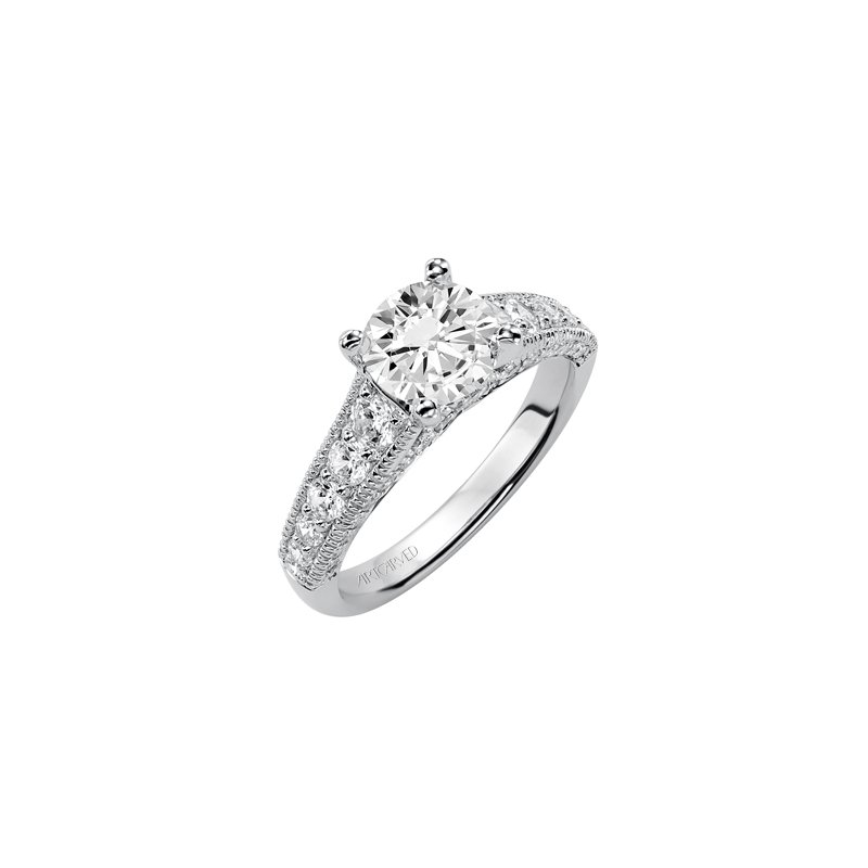 ArtCarved Vintage Diamond Engagement Semi