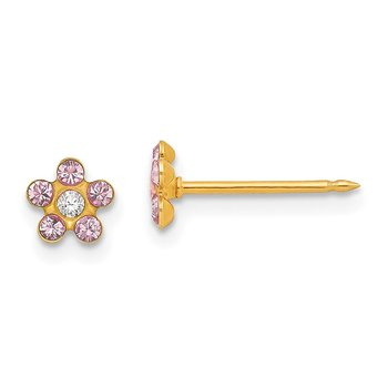 Inverness 14k June Crystal Birthstone Flower Earrings