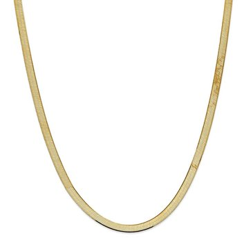 14k 5.5mm Silky Herringbone Chain