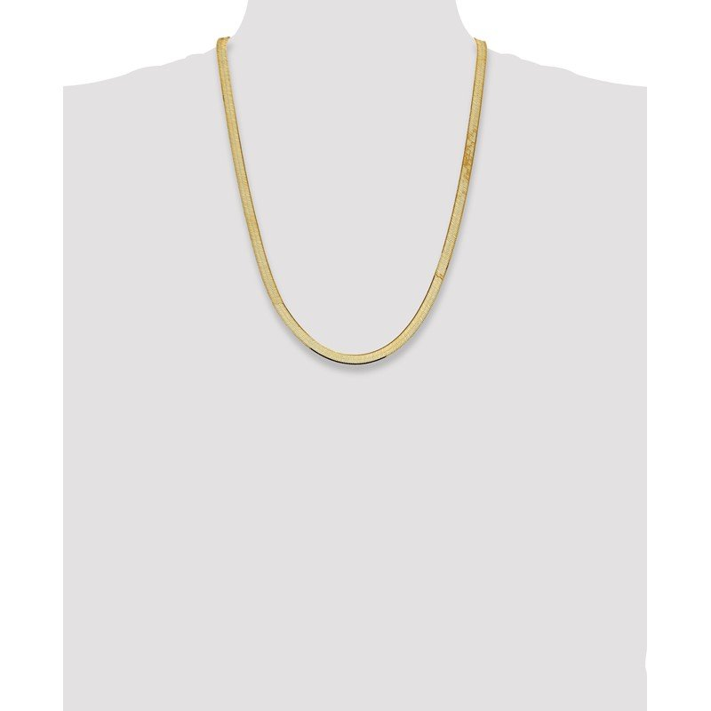 Quality Gold 14k 5.5mm Silky Herringbone Chain