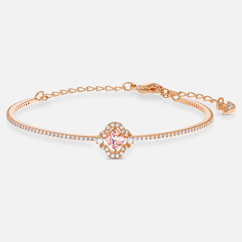 Swarovski Swarovski Sparkling Dance Bangle, Pink, Rose-gold tone plated