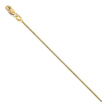 Leslie 14K .7 mm Box w/Lobster Chain
