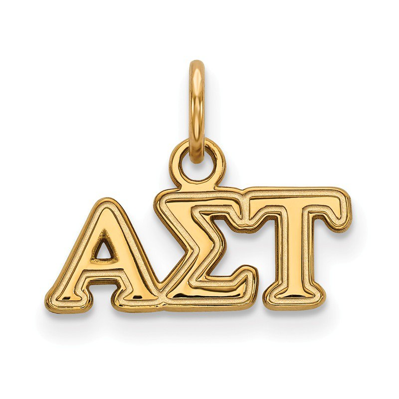 Greek Life Gold-Plated Sterling Silver Alpha Sigma Tau Greek Life Pendant