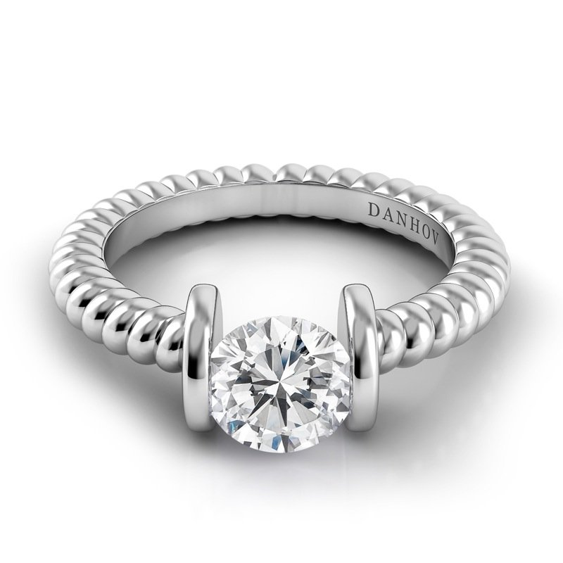 Danhov Voltaggio Braided Engagement Ring