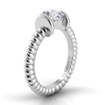 Voltaggio Braided Engagement Ring
