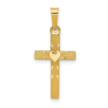 14k Small Hollow Cross Charm