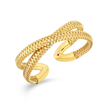 18KT GOLD FLEXIBLE CUFF