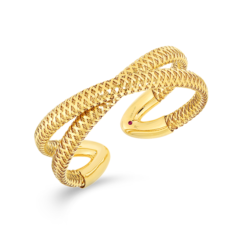 Roberto Coin 18Kt Gold Flexible Cuff
