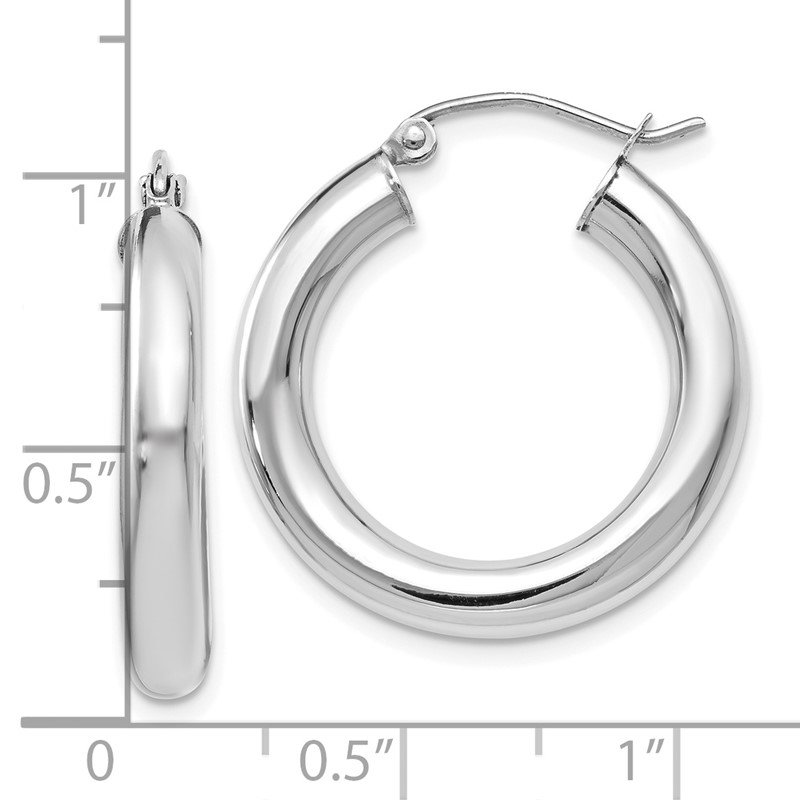 Leslie's Leslie's 14K White Gold Polished Lightweight Hoop Earrings