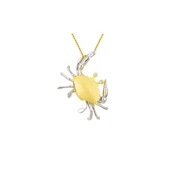 Two Tone Crab Pendant