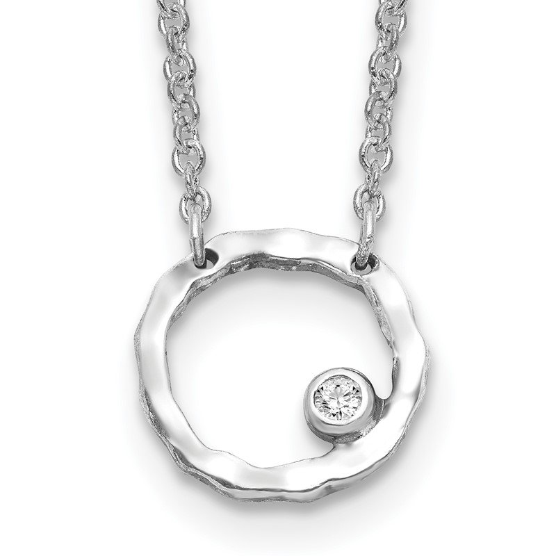 Arizona Diamond Center Collection Sterling Silver CZ Necklace