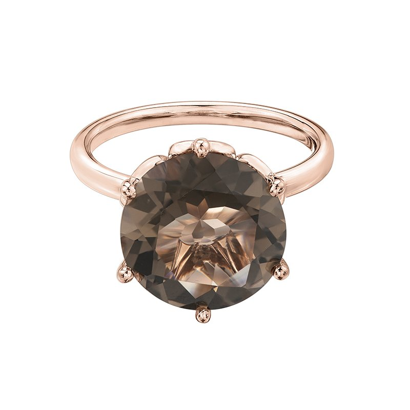 Diamond Days Smokey Quartz Ladies Ring