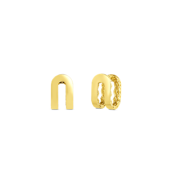 18KT GOLD DOUBLE SYMPHONY GOLDEN GATE EARRINGS