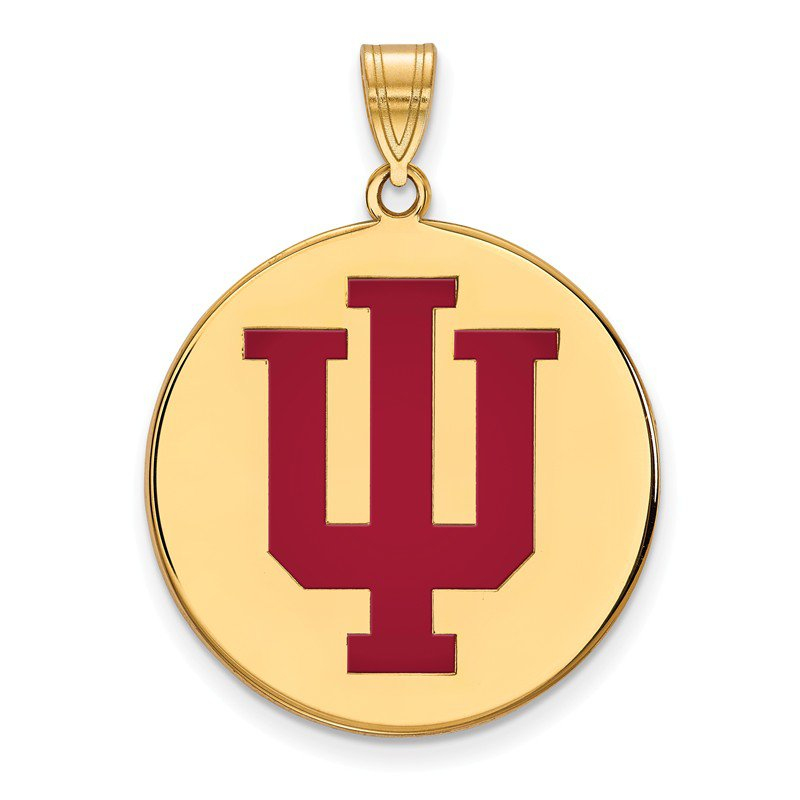 NCAA Gold-Plated Sterling Silver Indiana University NCAA Pendant