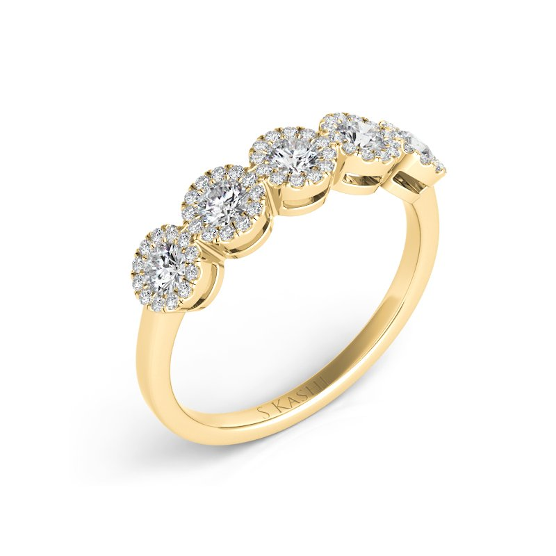 S. Kashi & Sons Bridal Yellow Gold Diamond Fashion Ring