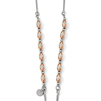 Leslie's Sterling Silver Rose Gold-plated D/C Adjustable Necklace