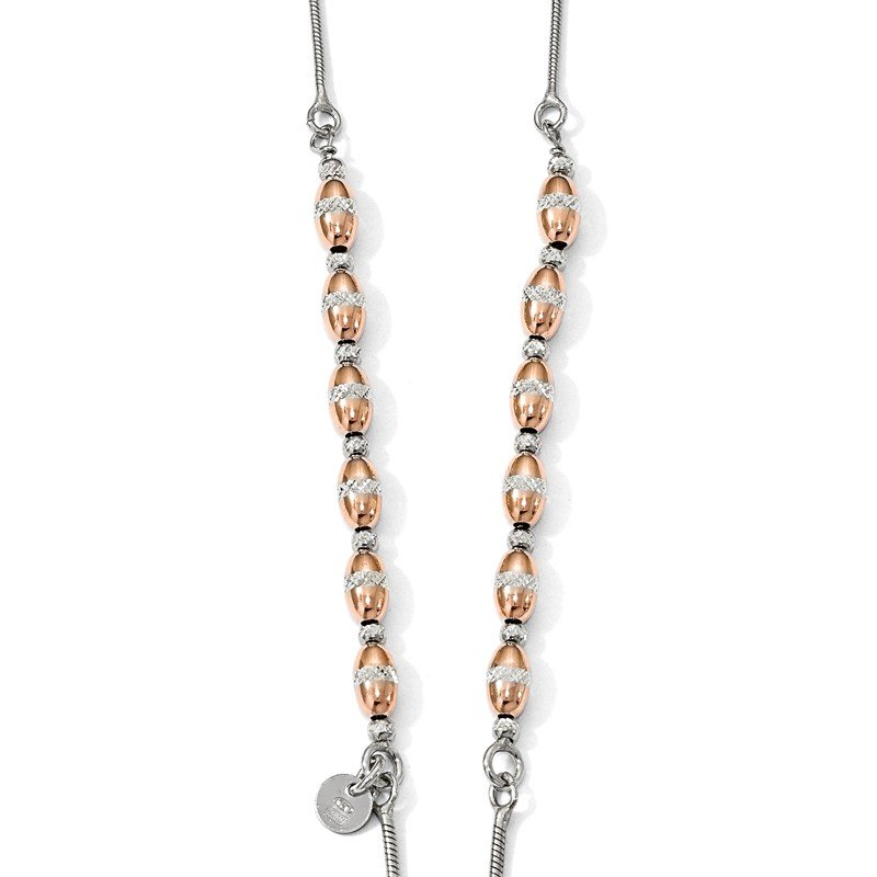 Leslie's Leslie's Sterling Silver Rose Gold-plated D/C Adjustable Necklace