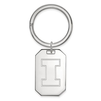 Sterling Silver University of Illinois NCAA Key Chain