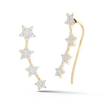 14KY STAR CLIMBER EARRINGS .60CT