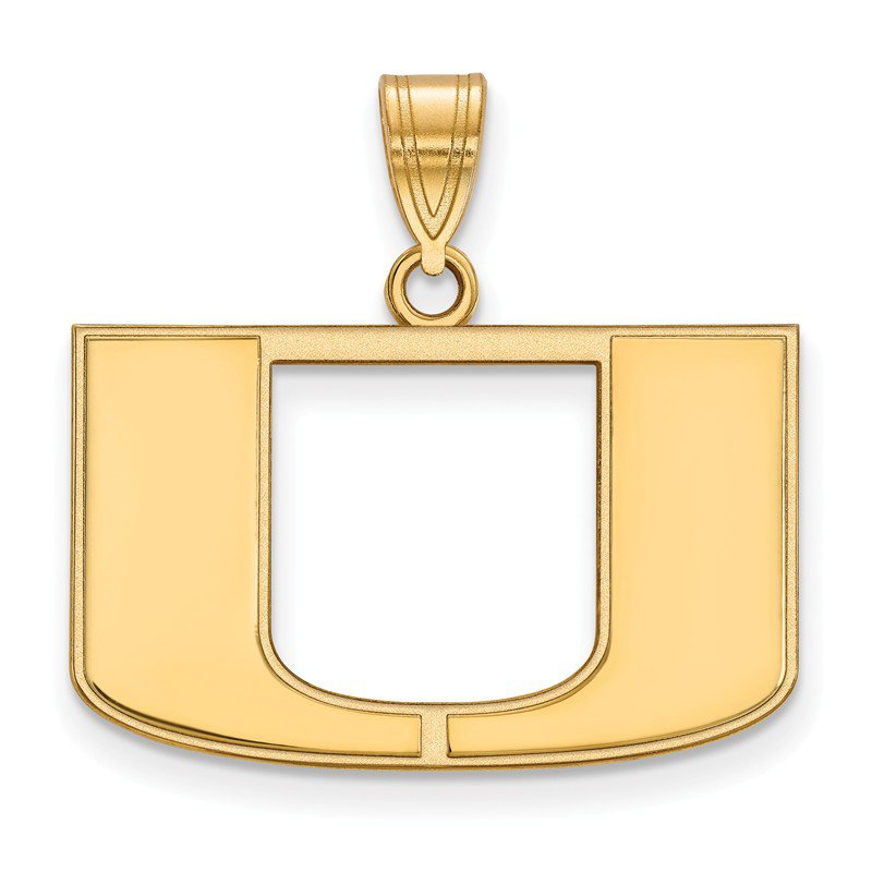 NCAA Gold University of Miami NCAA Pendant