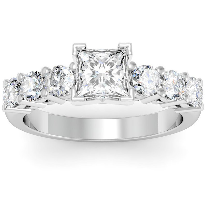 California Coast Designs Round Diamond Engagement Ring