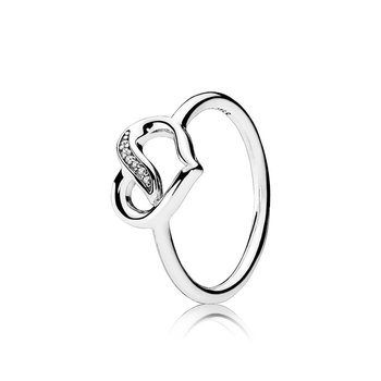 Dreams of Love Ring, Clear CZ