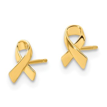 14k Madi K Awareness Ribbon Post Earrings