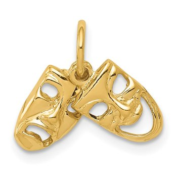 14k Comedy/Tragedy 2-Piece Charm