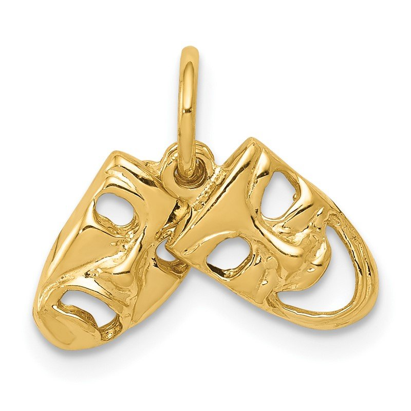 Quality Gold 14k Comedy/Tragedy 2-Piece Charm